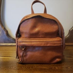 Madewell Mini Lorimer Backpack - English Saddle